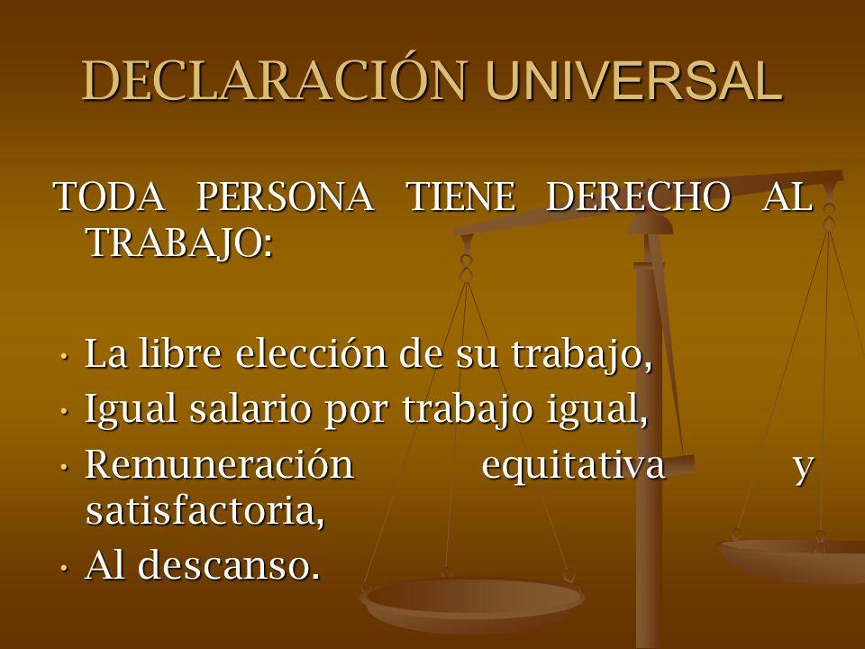 DECLARACIÓN UNIVERSAL