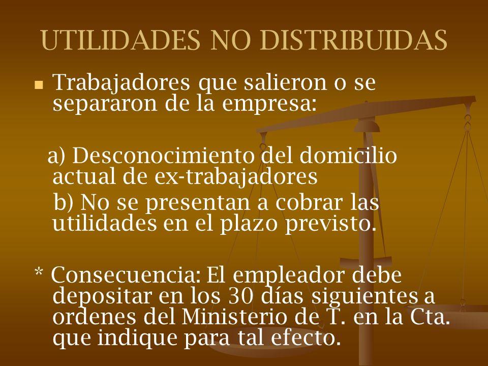 UTILIDADES NO DISTRIBUIDAS