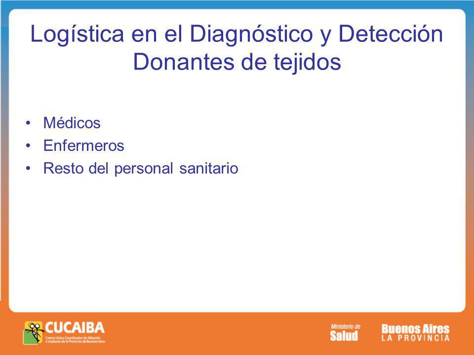 Logística en el Diagnóstico y Detección Donantes de tejidos
