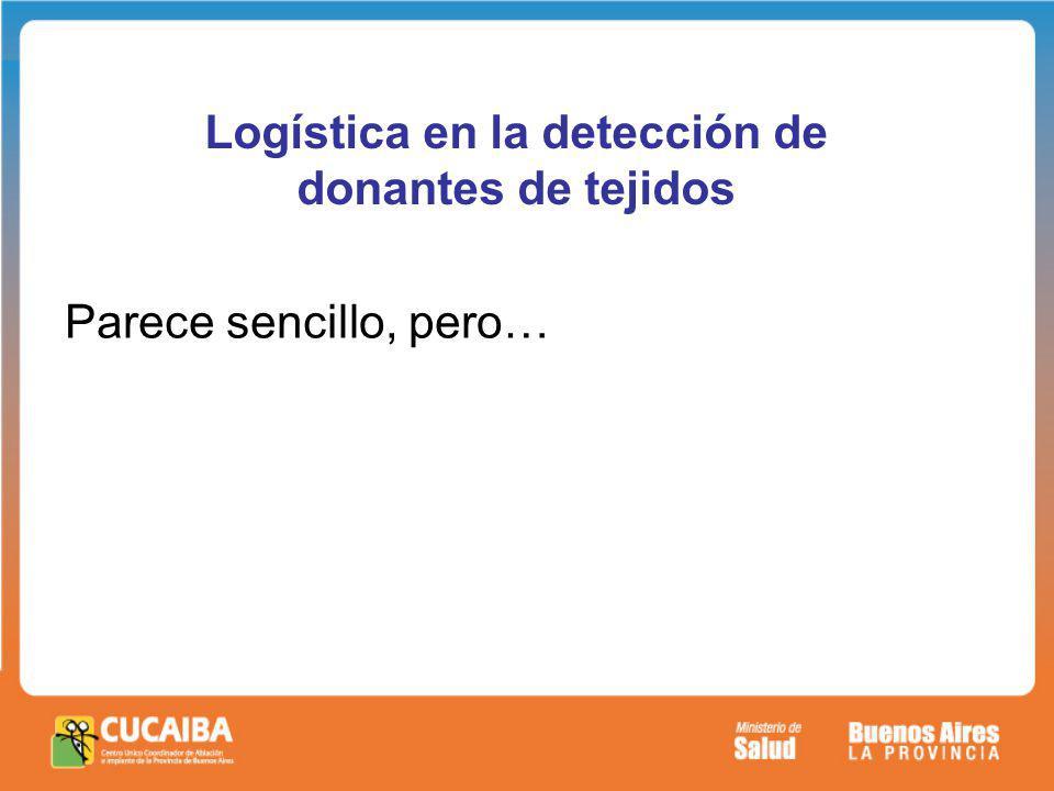 Logística en la detección de donantes de tejidos