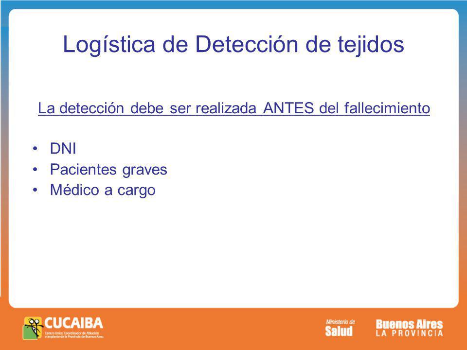 Logística de Detección de tejidos