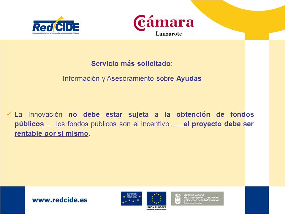 Servicio más solicitado: Información y Asesoramiento sobre Ayudas