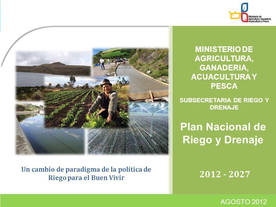 Plan Nacional de Riego y Drenaje