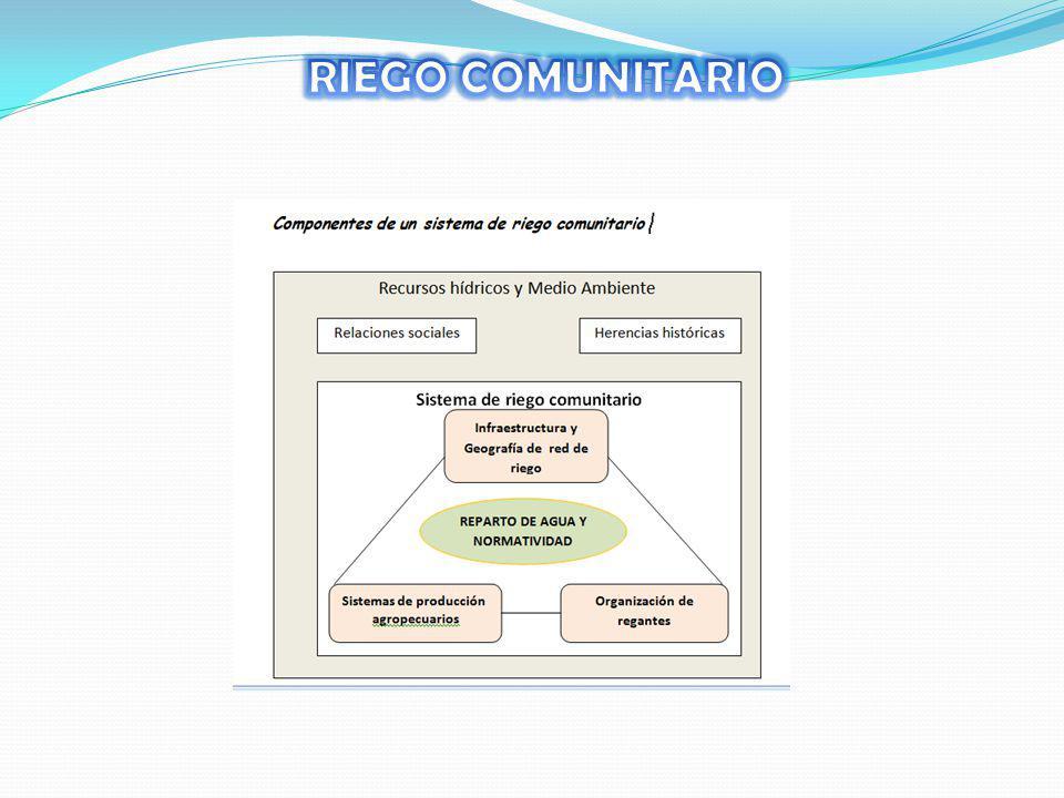 RIEGO COMUNITARIO