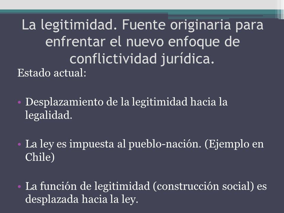 La legitimidad. Fuente originaria para enfrentar el nuevo enfoque de conflictividad jurídica.
