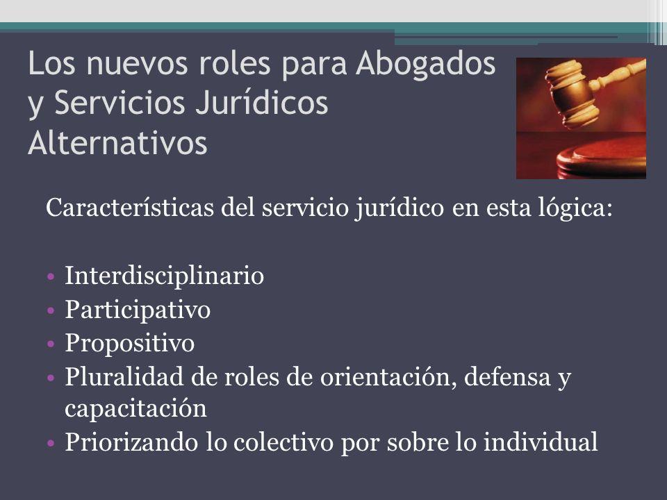 Los nuevos roles para Abogados y Servicios Jurídicos Alternativos