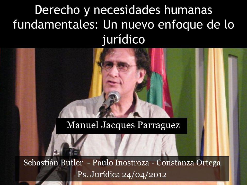 Derecho y necesidades humanas fundamentales: Un nuevo enfoque de lo jurídico