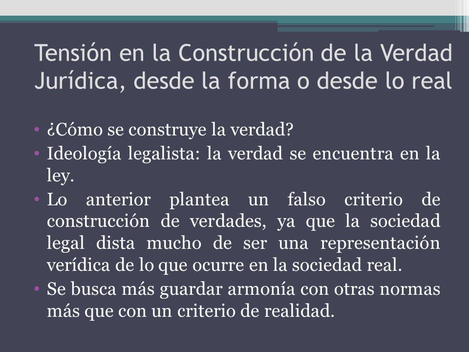 Tensión en la Construcción de la Verdad Jurídica, desde la forma o desde lo real