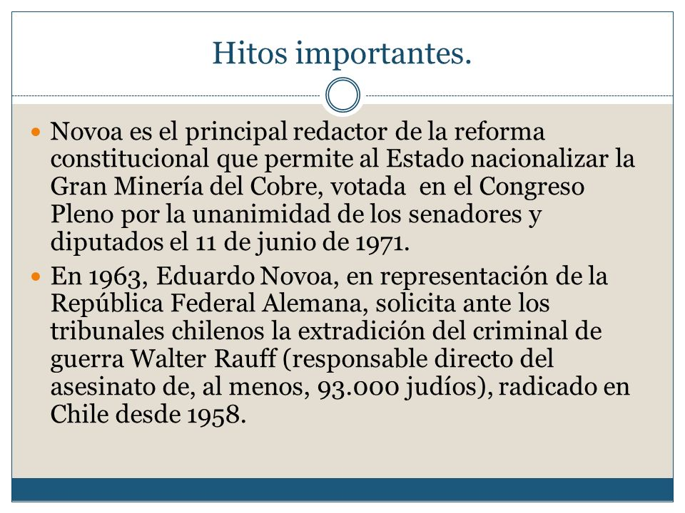 Hitos importantes.