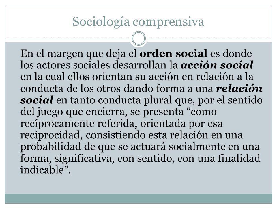 Sociología comprensiva