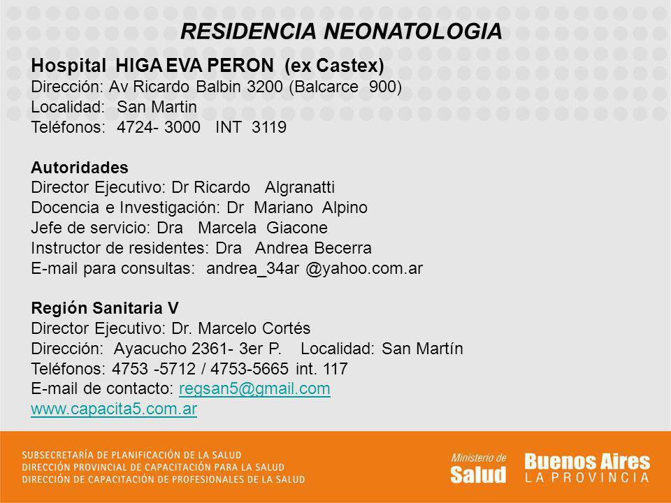 RESIDENCIA NEONATOLOGIA