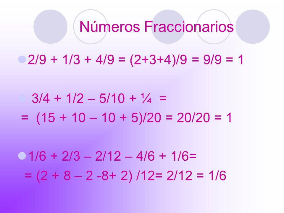 Números Fraccionarios