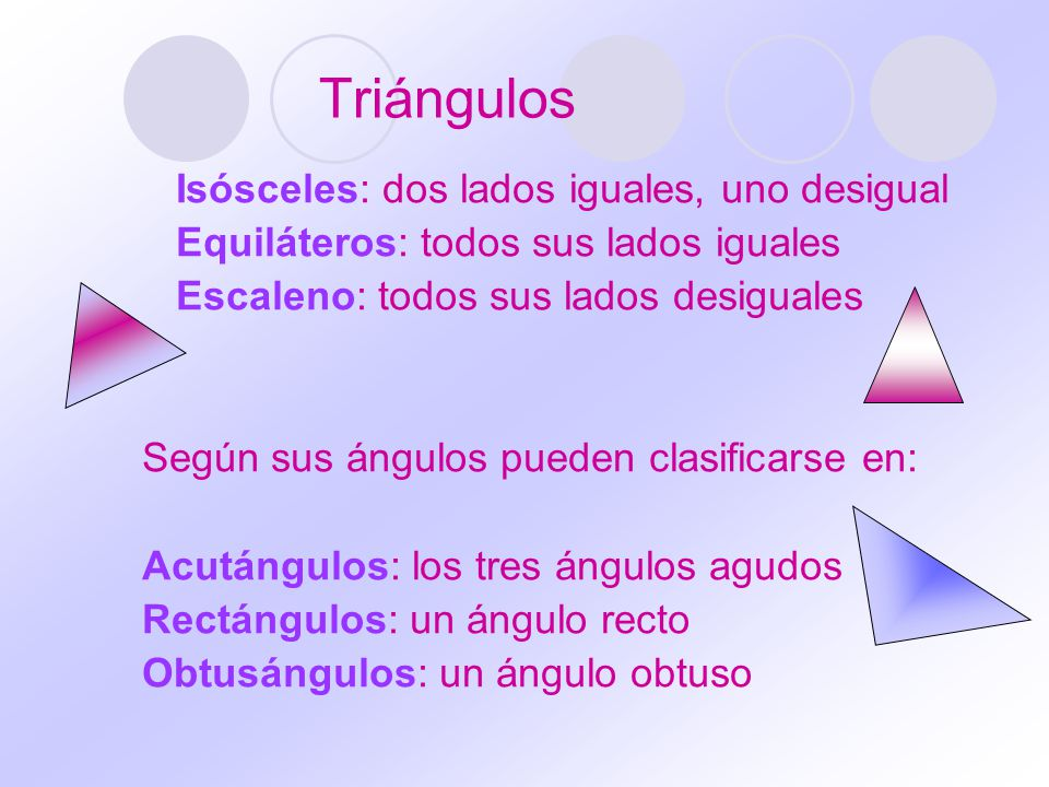 Triángulos Isósceles: dos lados iguales, uno desigual