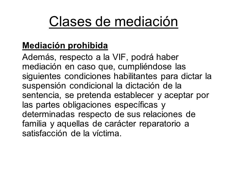 Clases de mediación Mediación prohibida