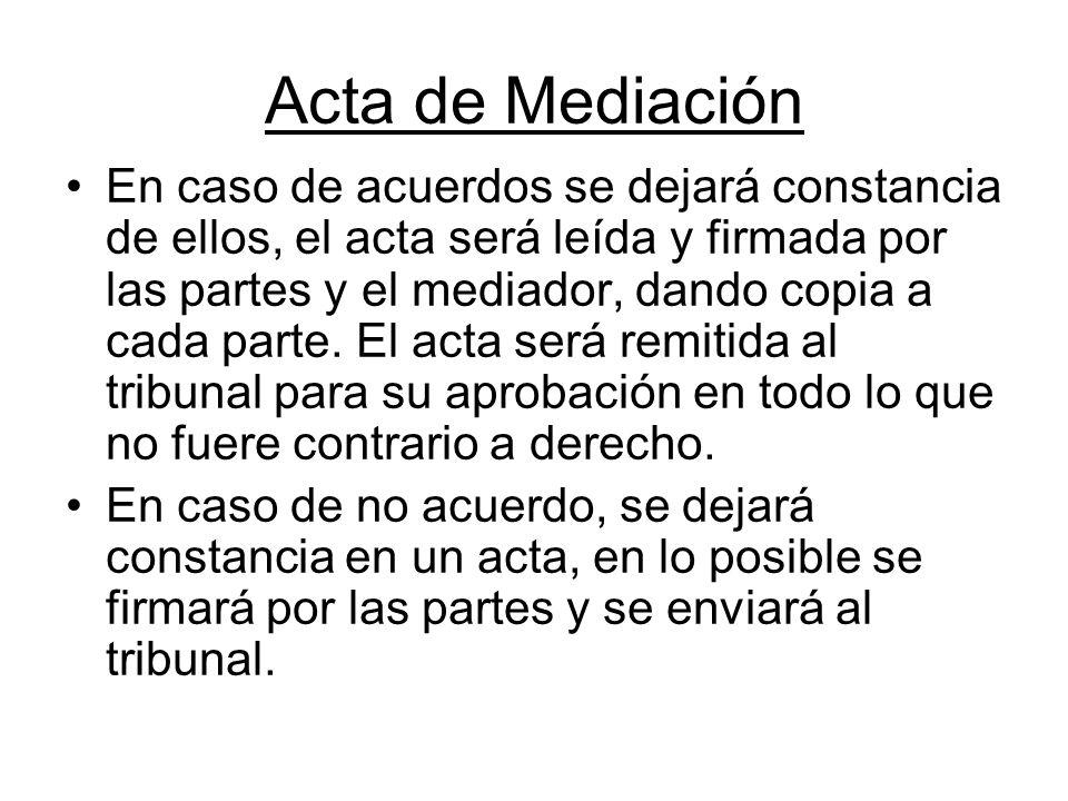 Acta de Mediación