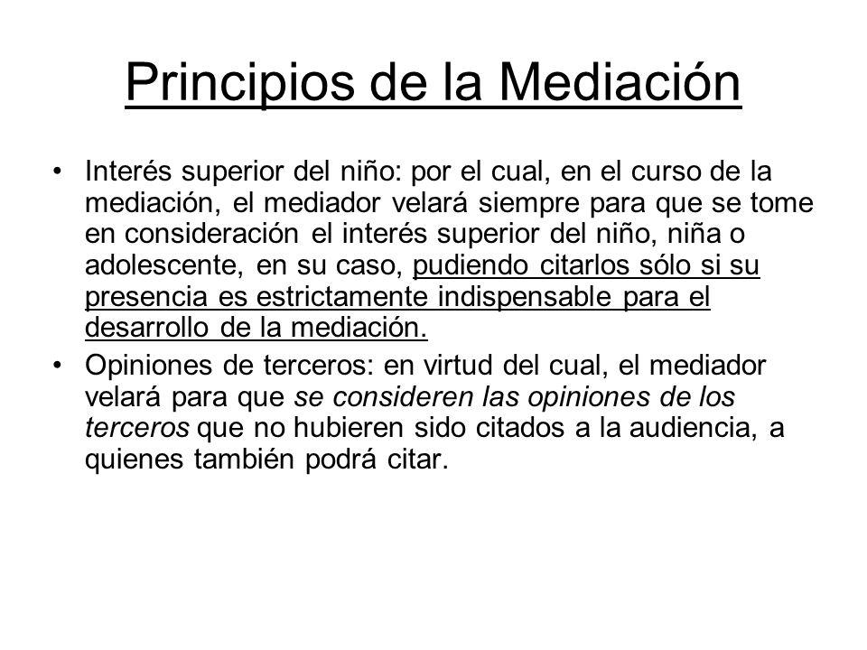 Principios de la Mediación