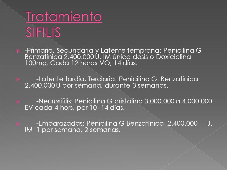 Tratamiento SIFILIS