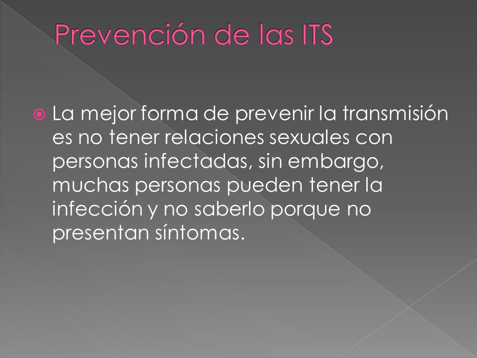 Prevención de las ITS