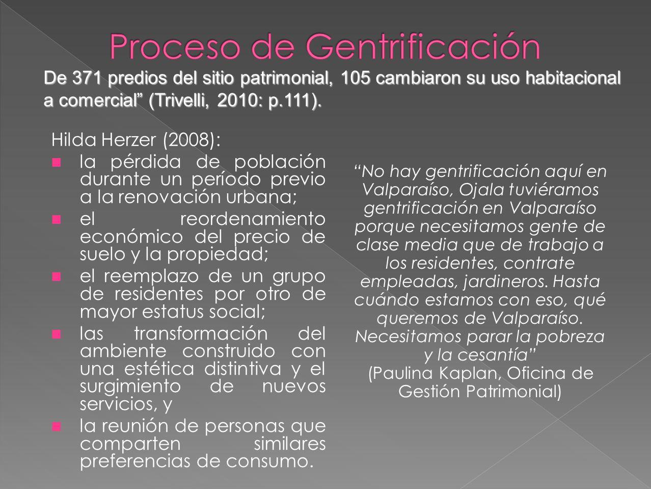 Proceso de Gentrificación