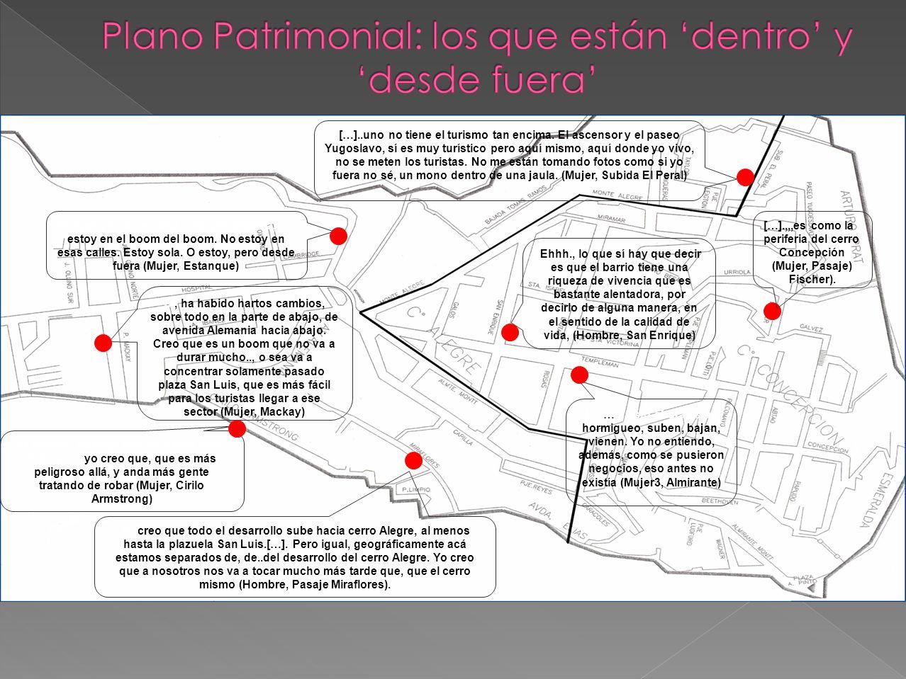 Plano Patrimonial: los que están 'dentro' y 'desde fuera'