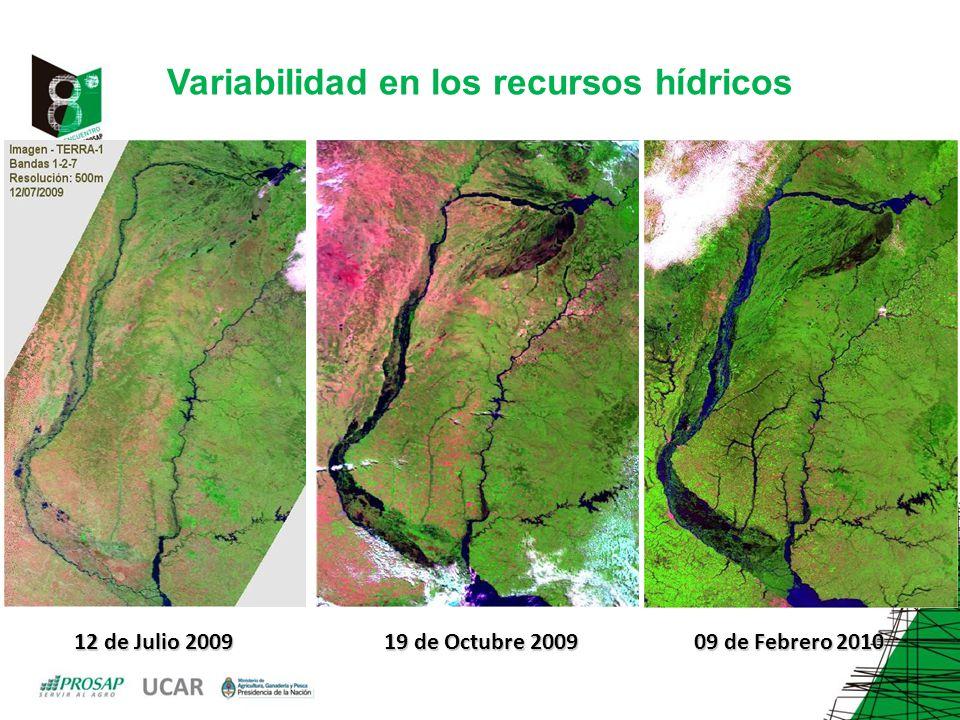 Variabilidad en los recursos hídricos