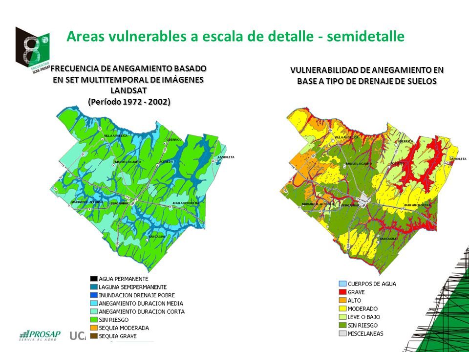 Areas vulnerables a escala de detalle - semidetalle