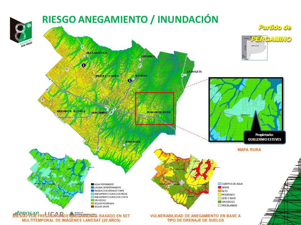 RIESGO ANEGAMIENTO / INUNDACIÓN