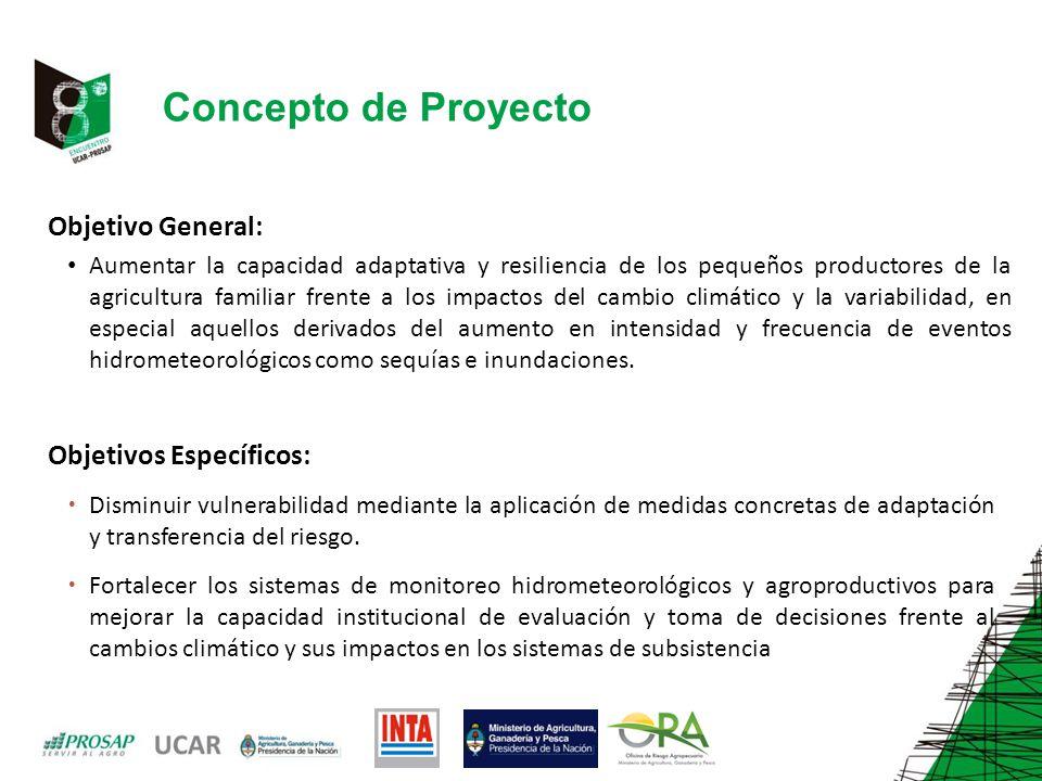 Concepto de Proyecto Objetivo General: Objetivos Específicos: