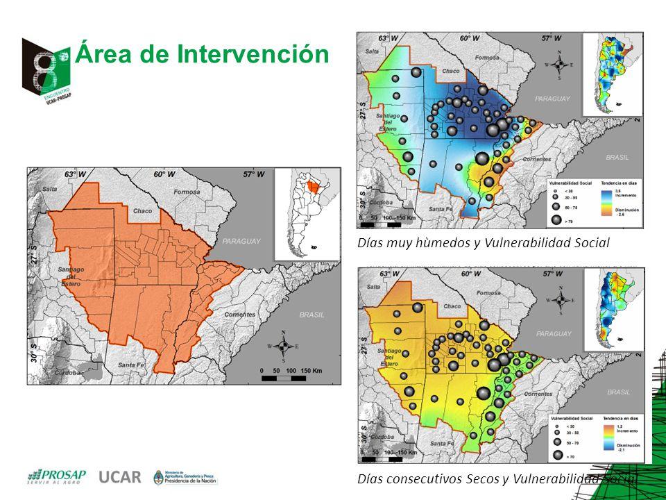 Área de Intervención Días muy hùmedos y Vulnerabilidad Social