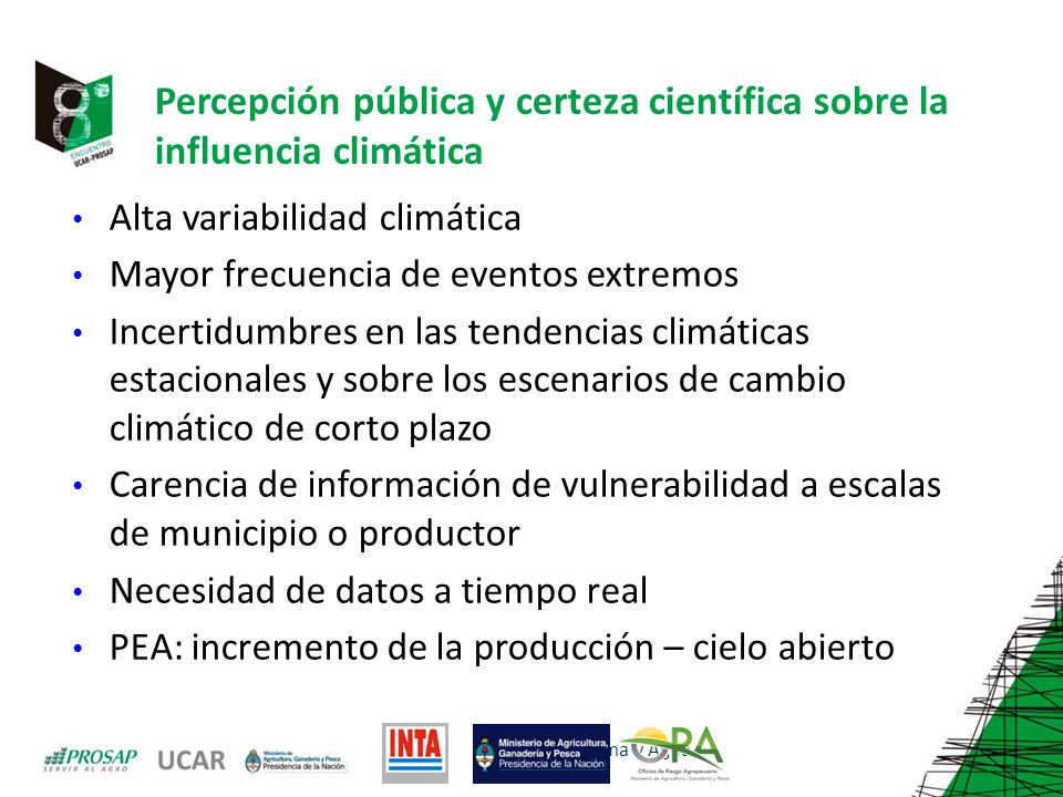Percepción pública y certeza científica sobre la influencia climática