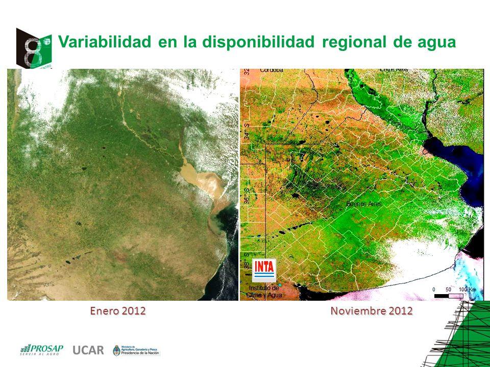 Variabilidad en la disponibilidad regional de agua