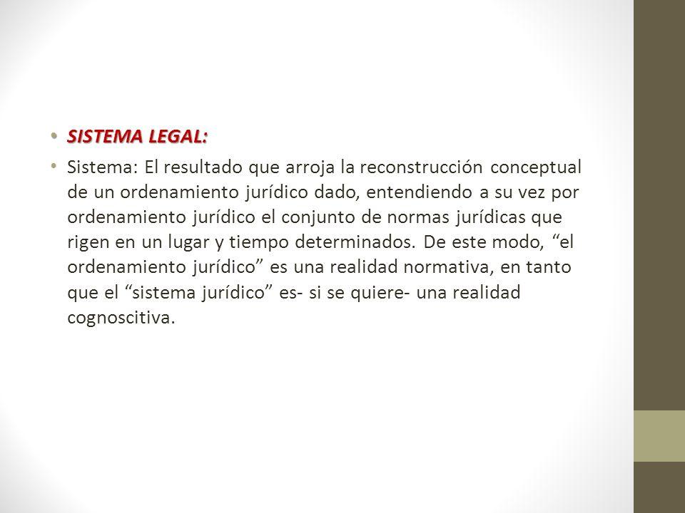 SISTEMA LEGAL: