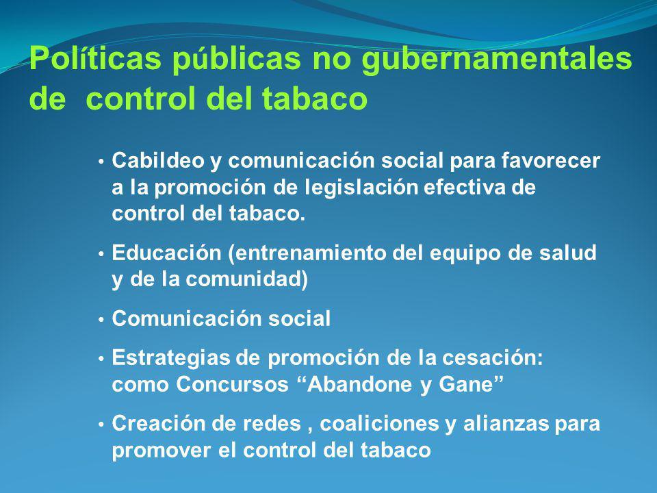 Políticas públicas no gubernamentales de control del tabaco