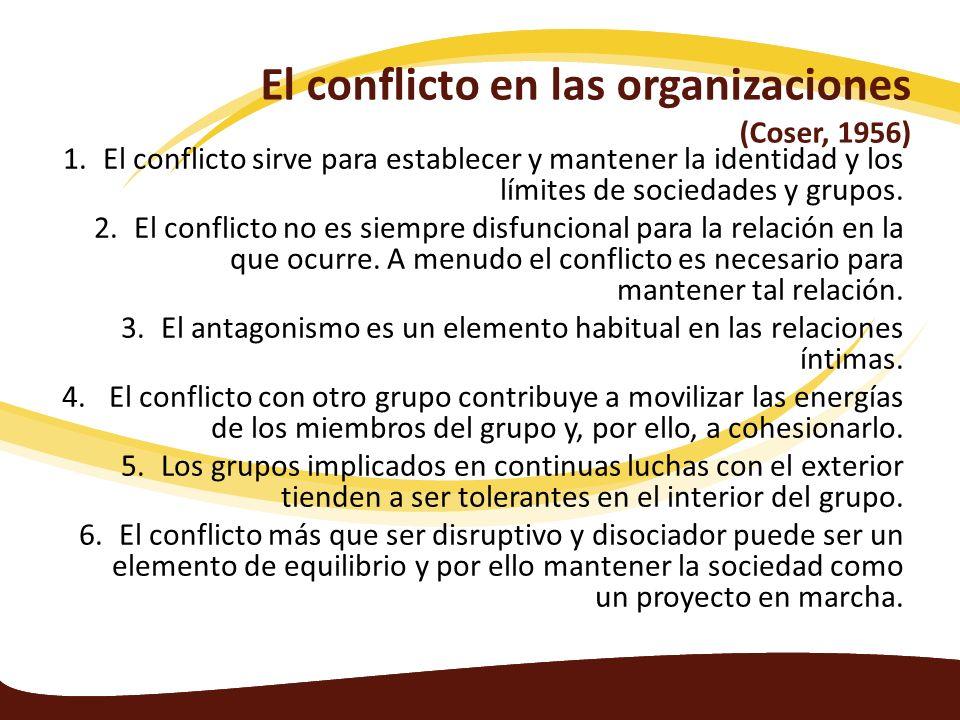 El conflicto en las organizaciones (Coser, 1956)