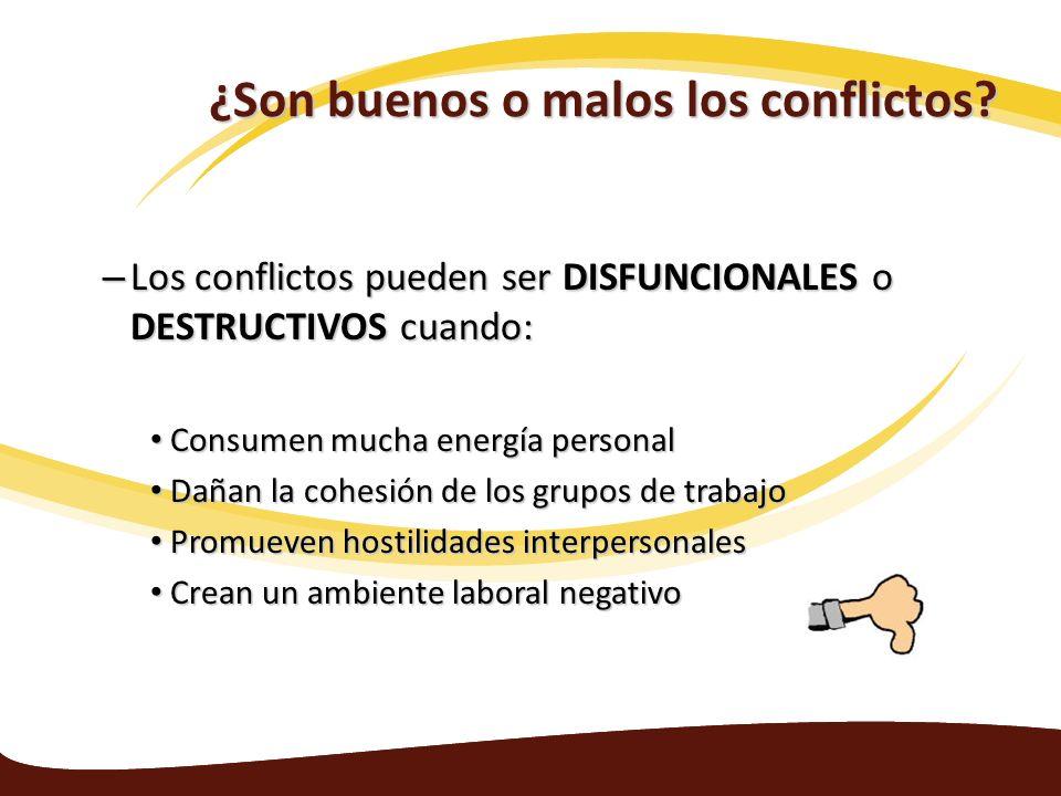 ¿Son buenos o malos los conflictos