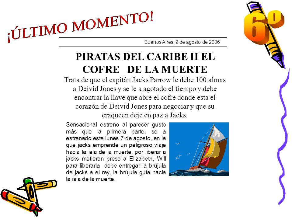 PIRATAS DEL CARIBE II EL COFRE DE LA MUERTE