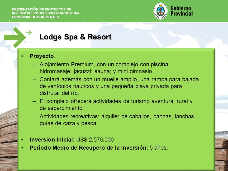 Lodge Spa & Resort Proyecto: