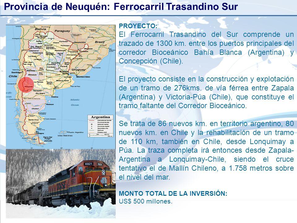 Provincia de Neuquén: Ferrocarril Trasandino Sur