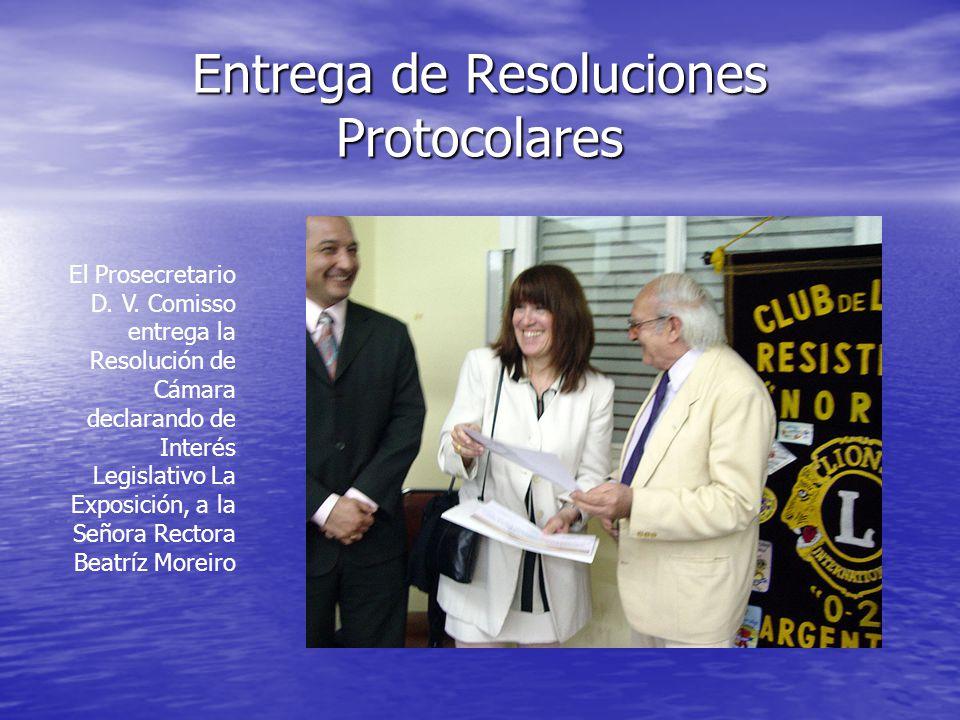 Entrega de Resoluciones Protocolares