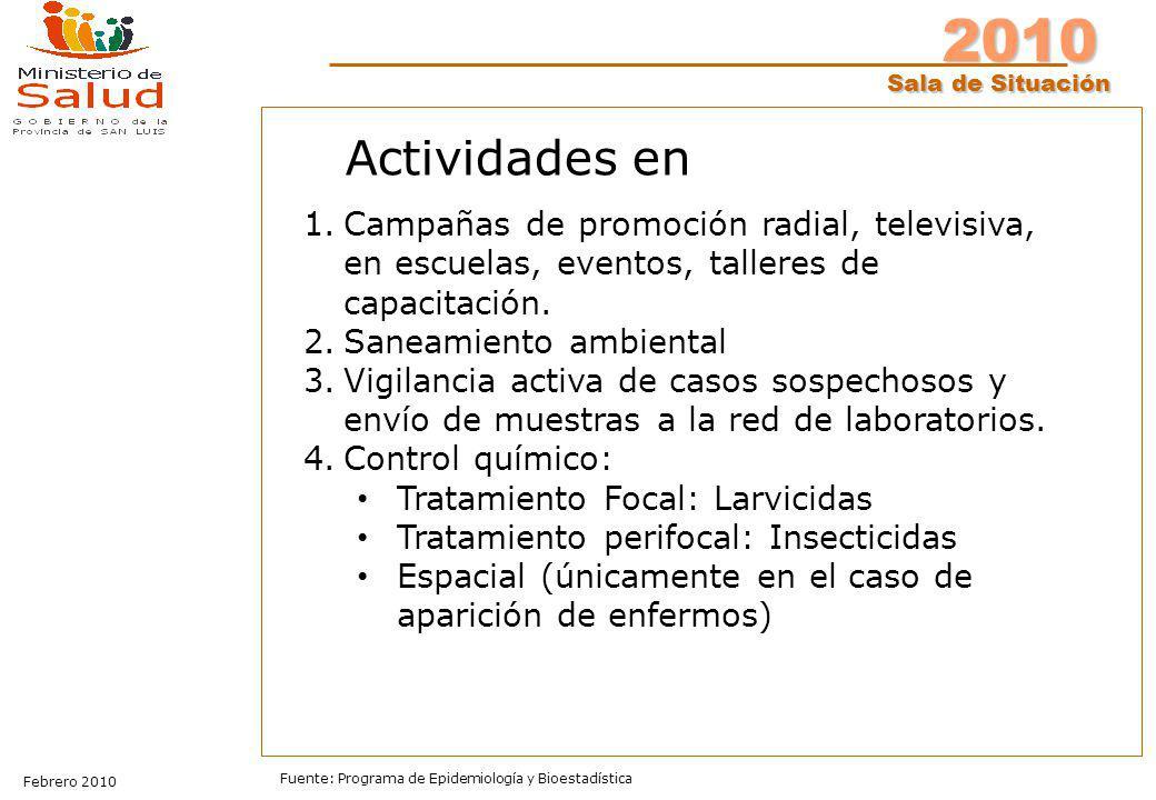 Actividades en Campañas de promoción radial, televisiva, en escuelas, eventos, talleres de capacitación.
