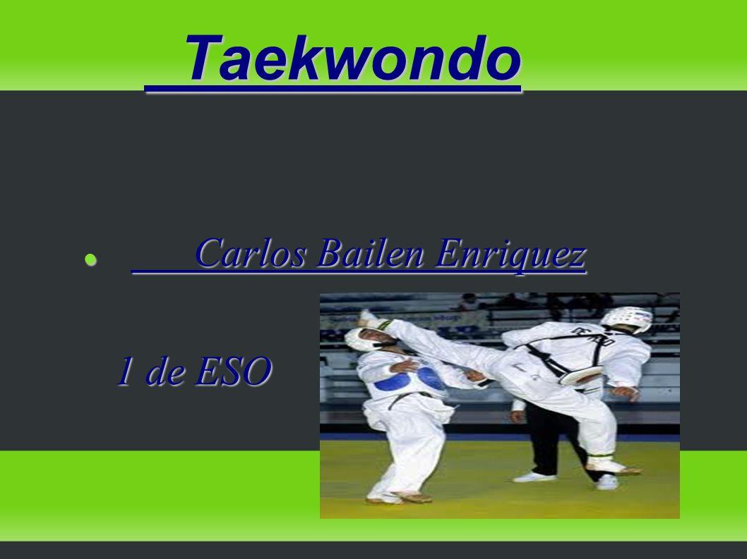 Taekwondo Carlos Bailen Enriquez 1 de ESO