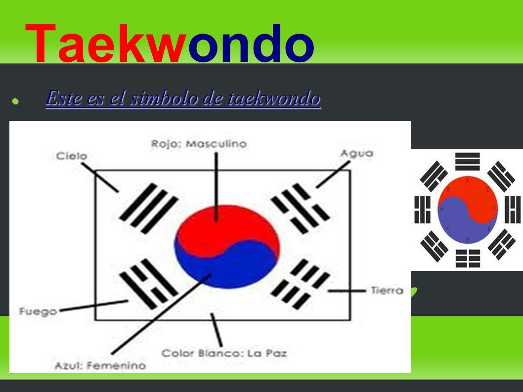 Taekwondo Este es el simbolo de taekwondo
