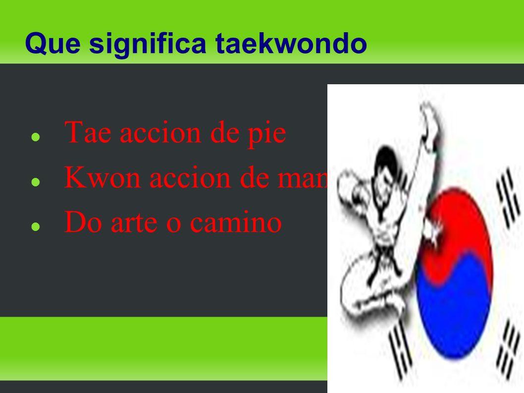 Que significa taekwondo