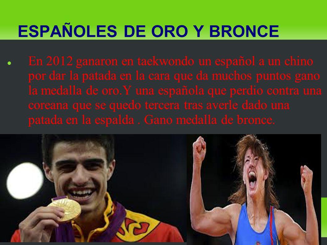 ESPAÑOLES DE ORO Y BRONCE