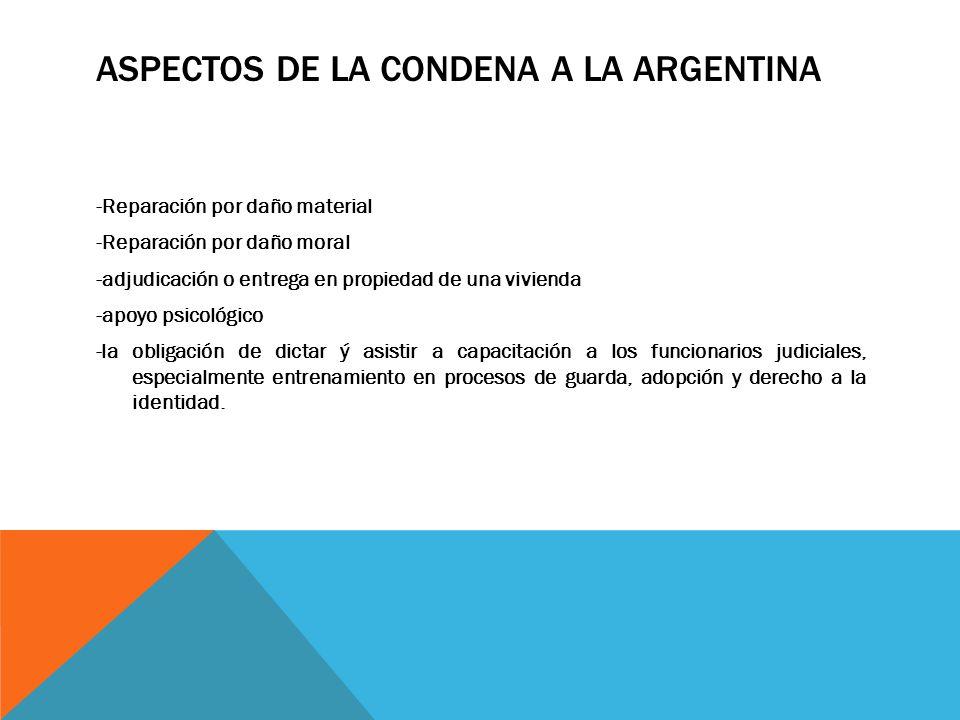 ASPECTOS DE LA CONDENA A LA ARGENTINA