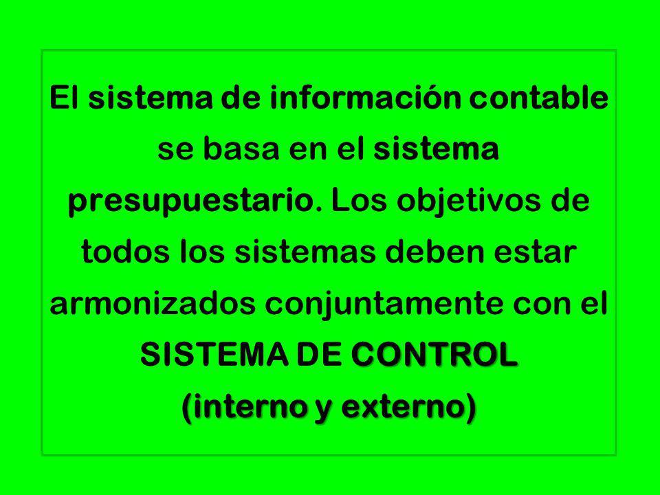 El sistema de información contable se basa en el sistema presupuestario.