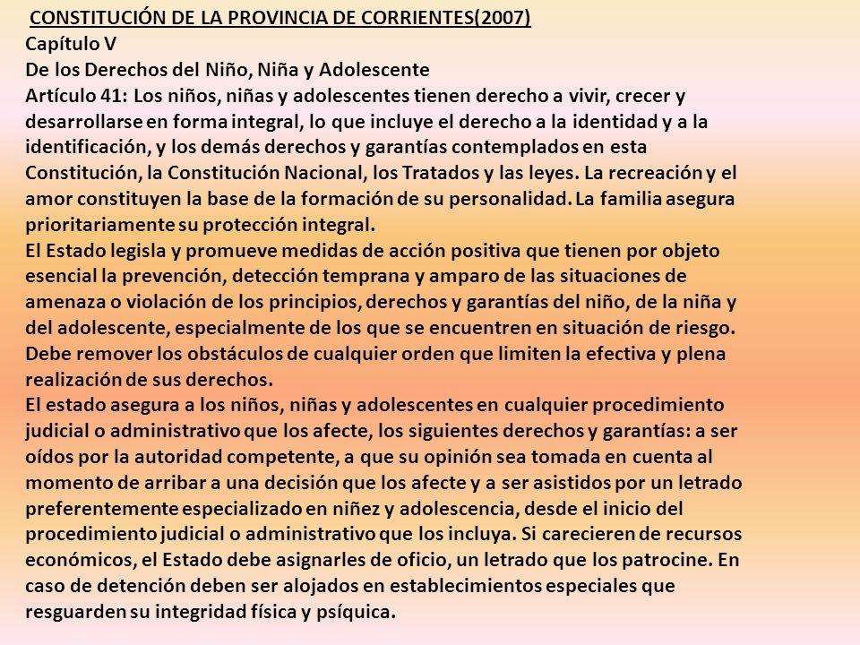 CONSTITUCIÓN DE LA PROVINCIA DE CORRIENTES(2007)