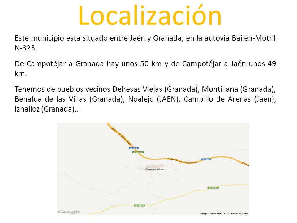LocalizaciónEste municipio esta situado entre Jaén y Granada, en la autovia Bailen-Motril N-323.