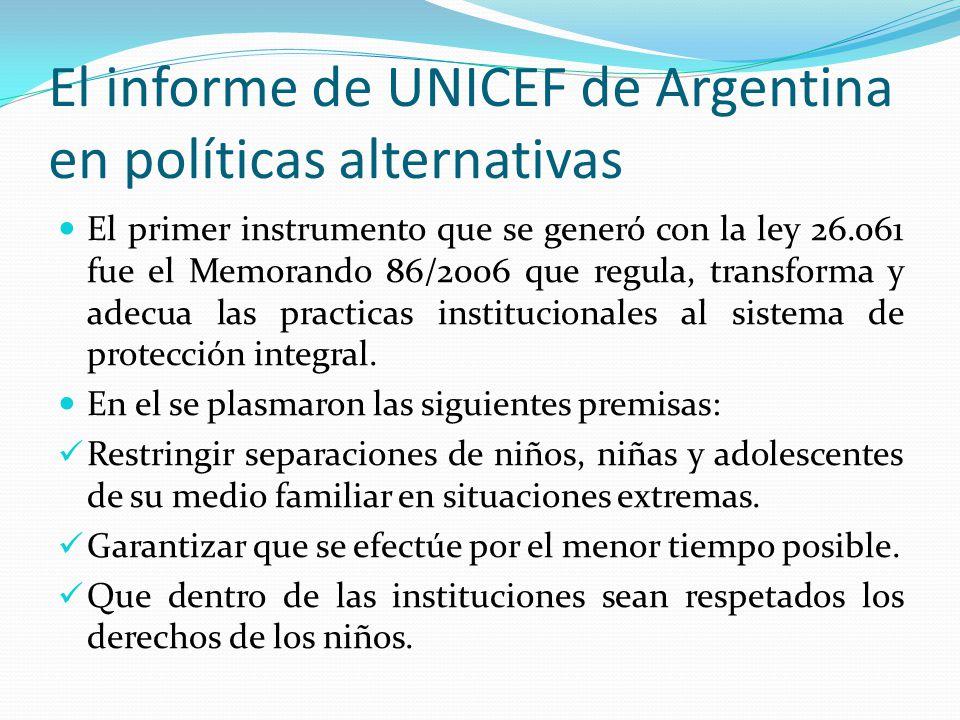 El informe de UNICEF de Argentina en políticas alternativas