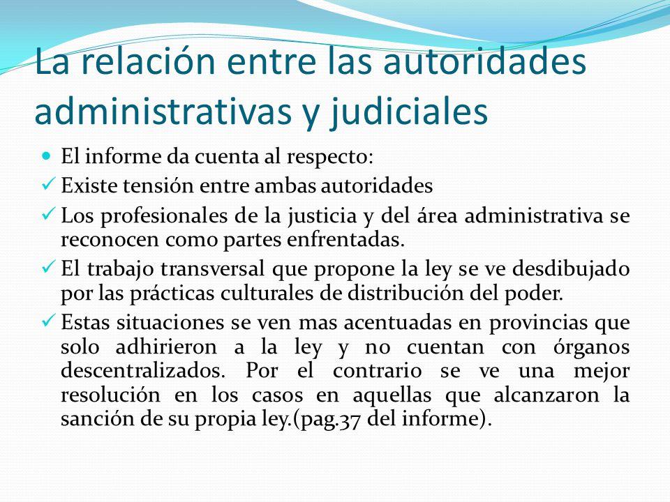 La relación entre las autoridades administrativas y judiciales